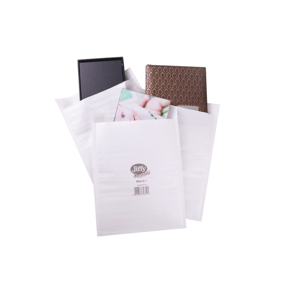 Jiffy Superlite Mailer Size 5 260x345mm White (Pack of 100) MBSL02805