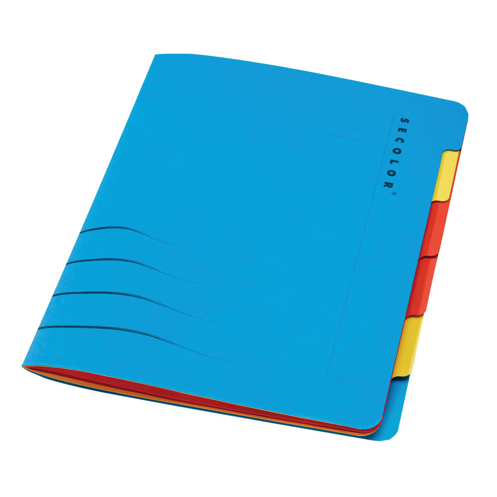 Jalema Secolor Sixtab 6- Part File A4 Blue (Pack of 5) 8331600-10791