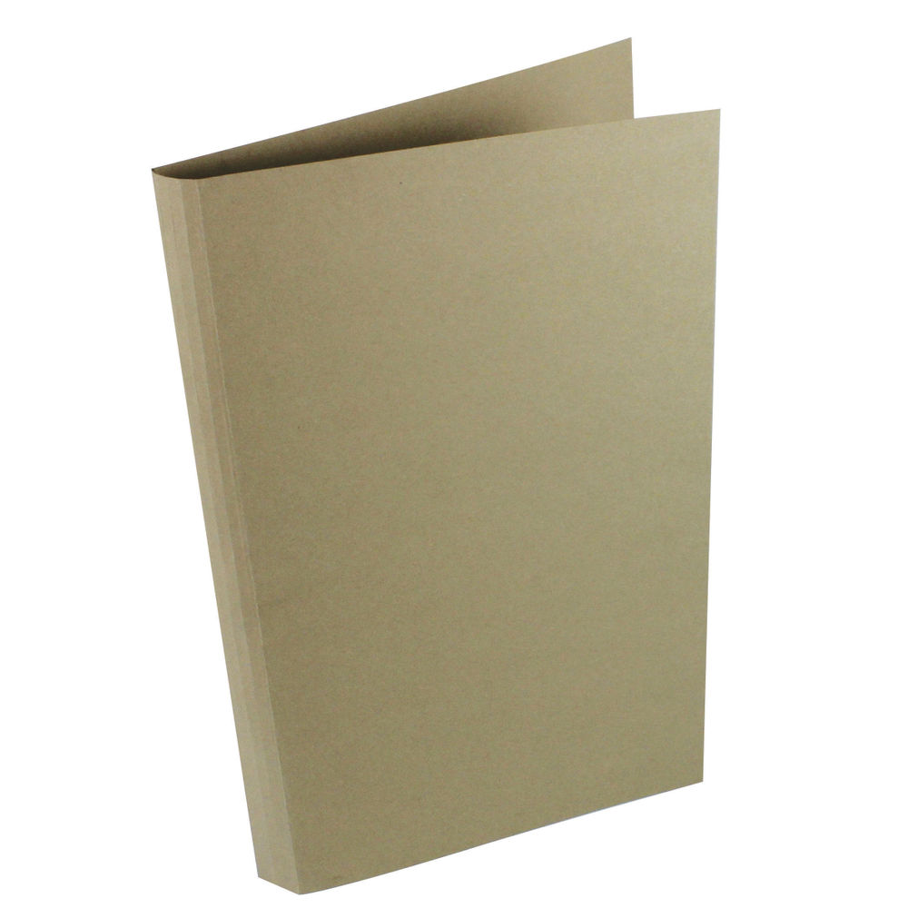 Guildhall Foolscap/A4 Square Cut Buff Folders 290gsm - Pack of 100 - JT44202