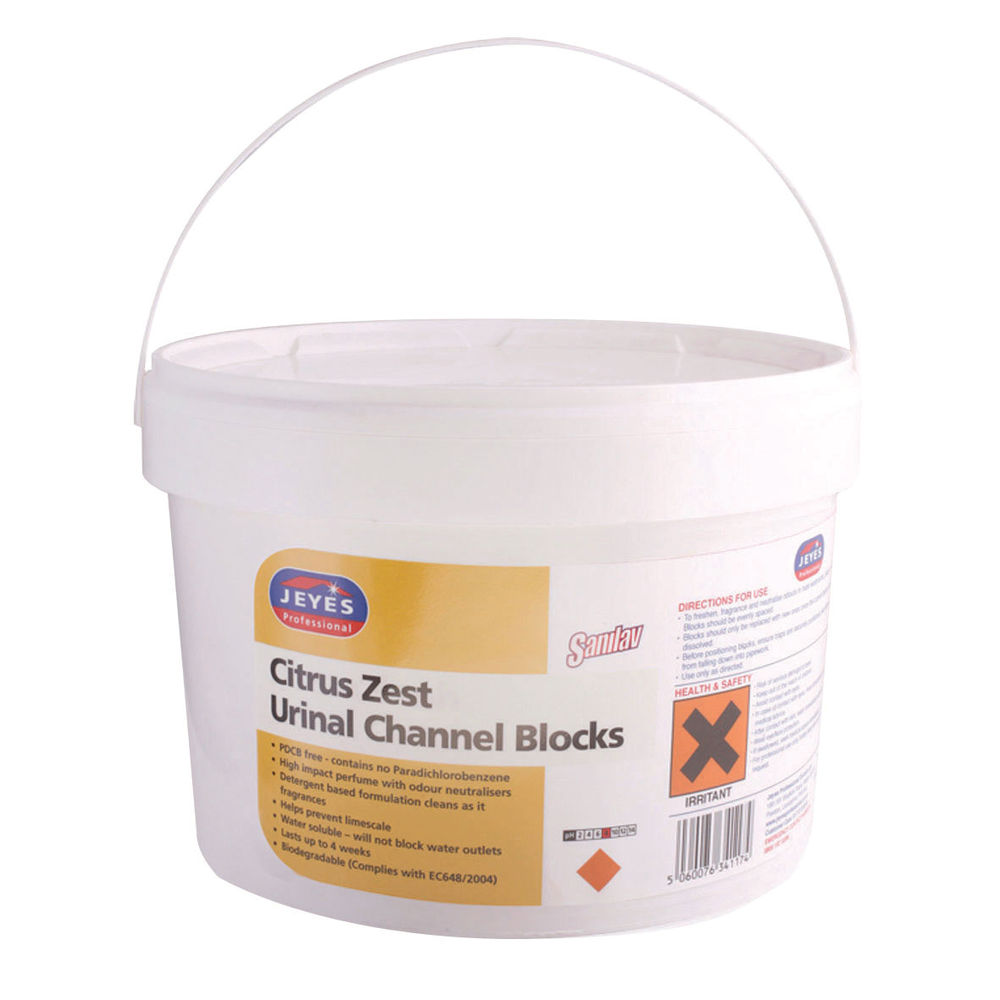 Jeyes 3kg Citrus Urinal Channel Blocks - 1009054