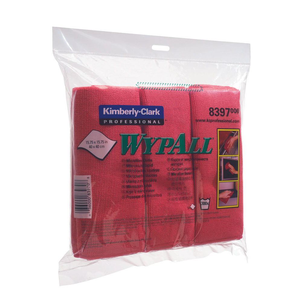 Wypall Microfibre Cloth Red (Pack of 6) 8397