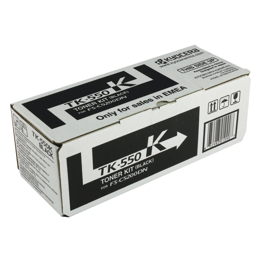 Kyocera TK550K Black Toner Cartridge - TK-550K