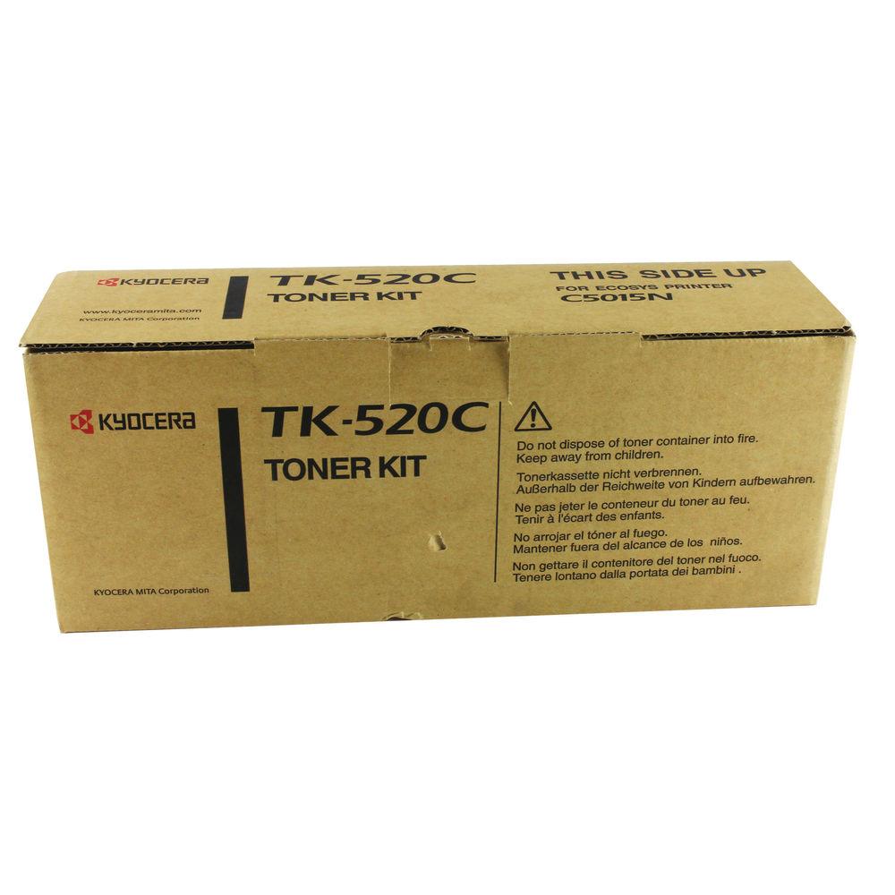 Kyocera Cyan TK-520C Toner Cartridge (4,000 Page Capacity)