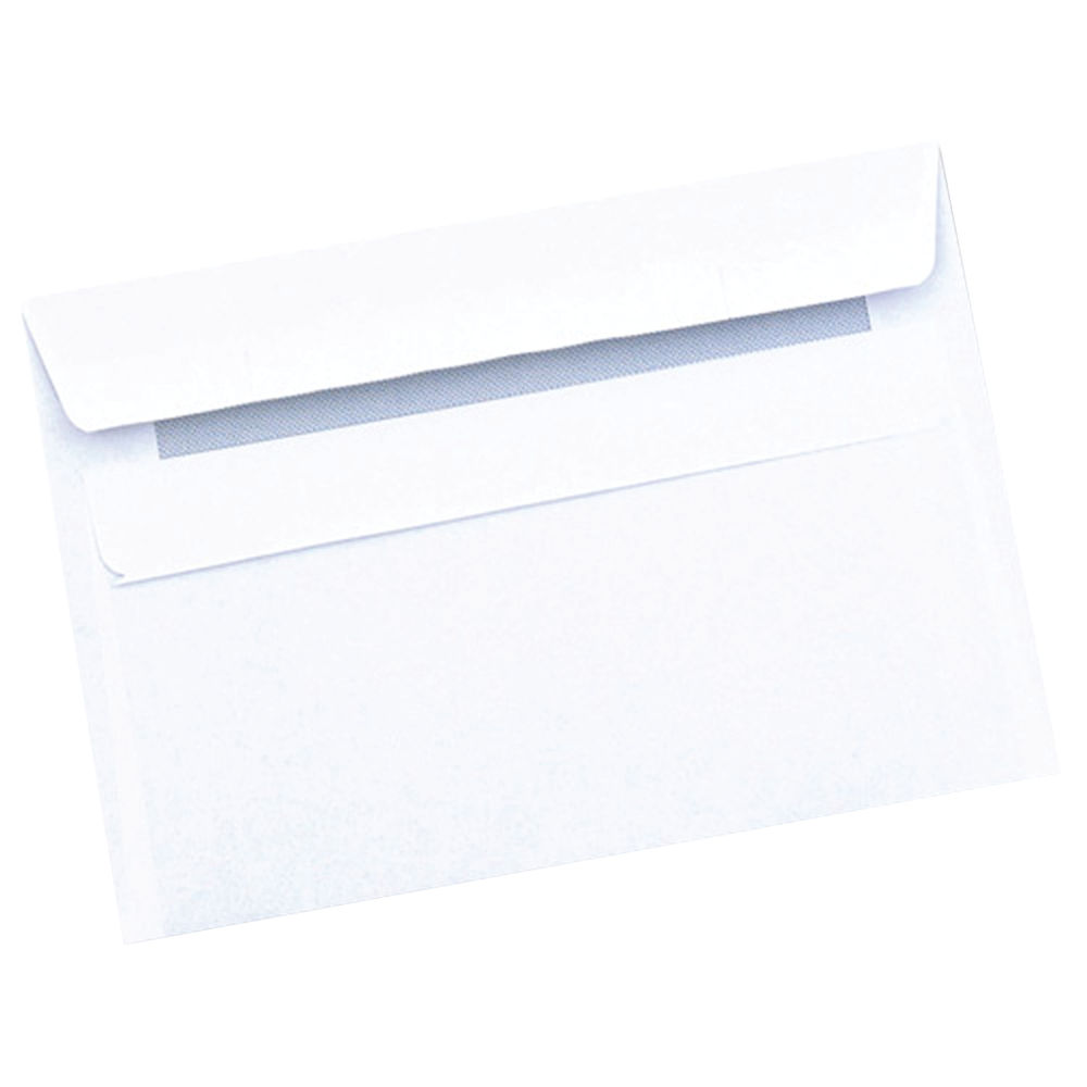 Q-Connect White C6 Self Seal Envelopes 90gsm, Pack of 1000 - 7042