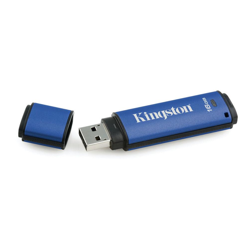 Kingston DataTraveler DTVP30/16GB Encrypted Flash Drive