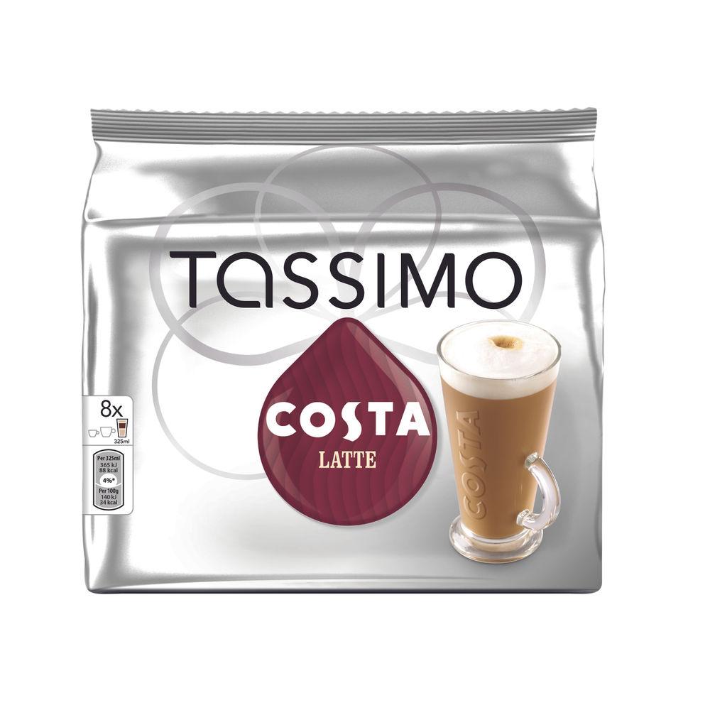 Tassimo Costa Latte Coffee 239.2g Capsules (5 Packs Of 8