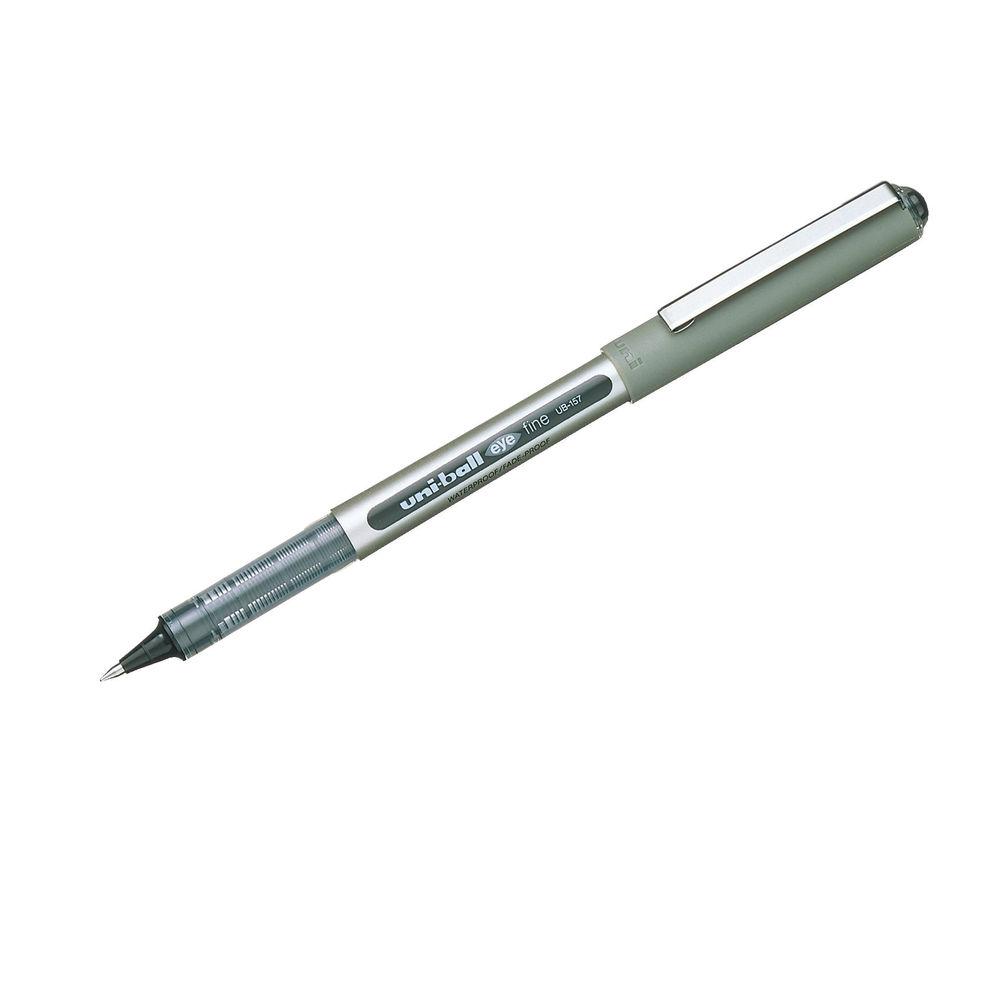 Uni-Ball UB-157 Eye Rollerball Pen Medium Black (Pack of 12) 9000700