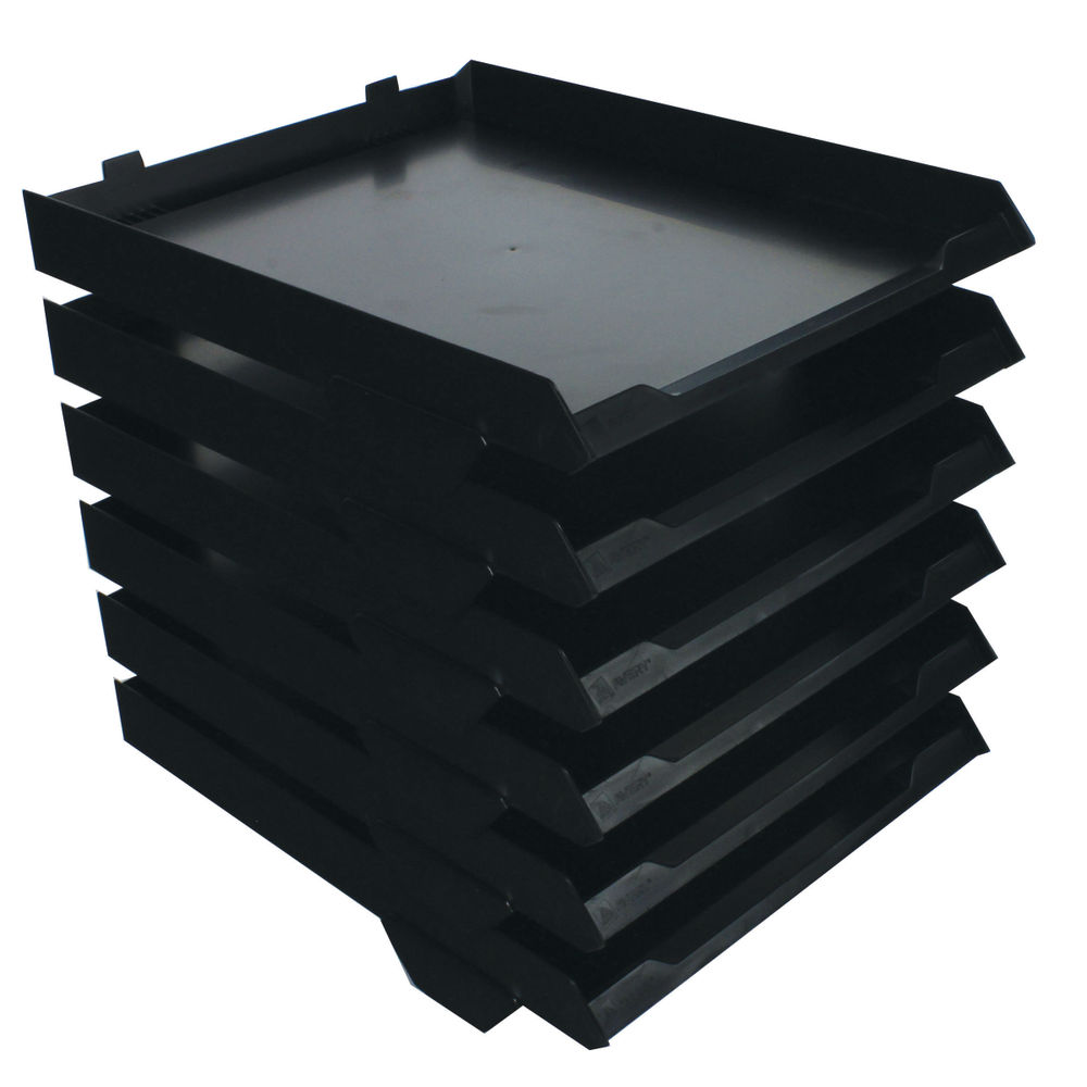 Avery Black 6 Letter Tray Stack System - 5336BLK