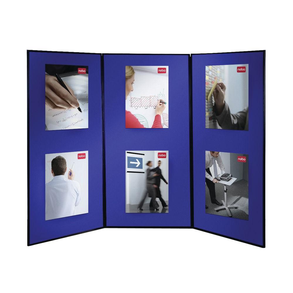 Nobo Lightweight Showboard, 3 Panel, Blue/Grey - 1901710