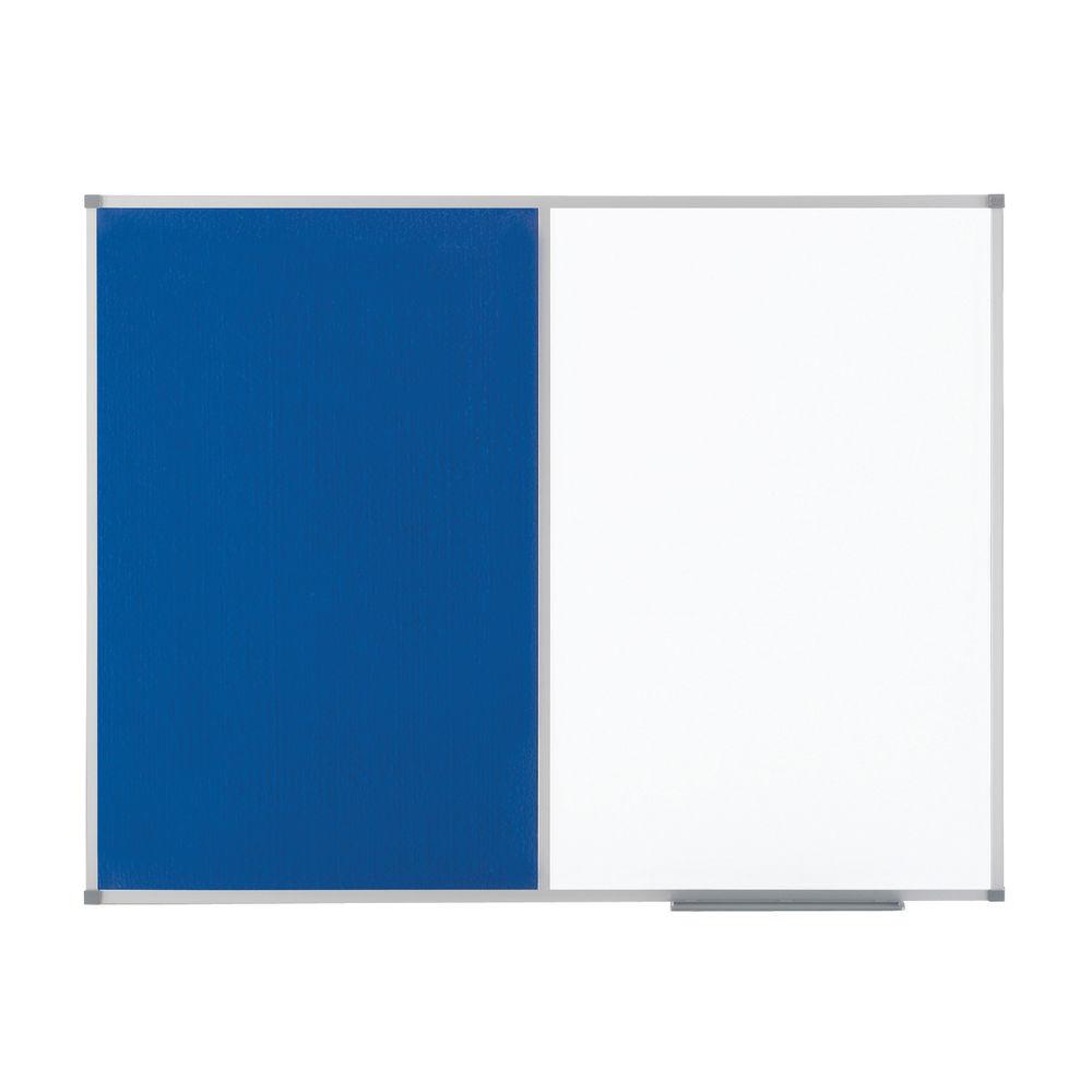 Nobo Classic Combi Blue Felt/Steel Noticeboard 900x600mm 1902257