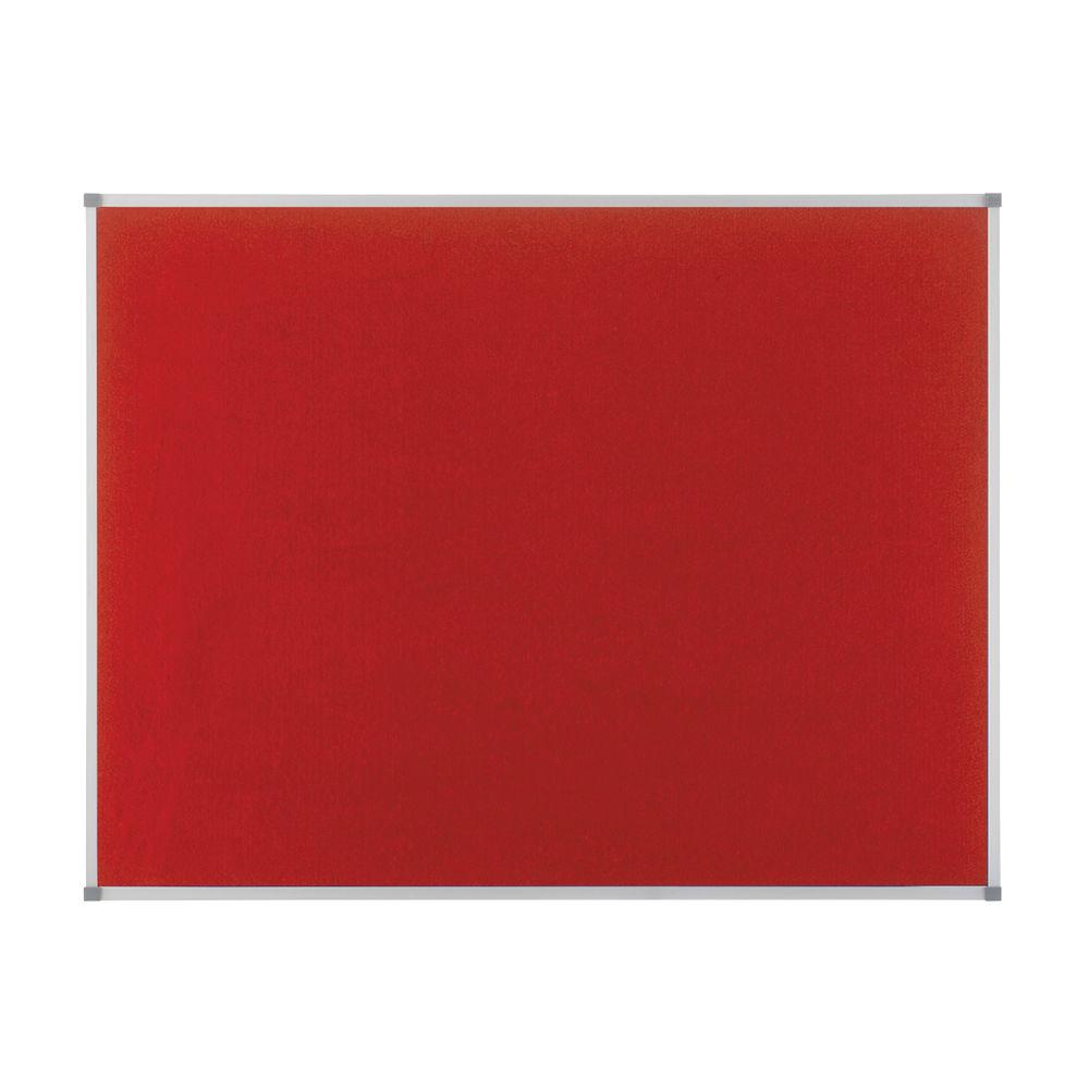 Nobo Classic Red Felt Noticeboard 900x600mm 1902259