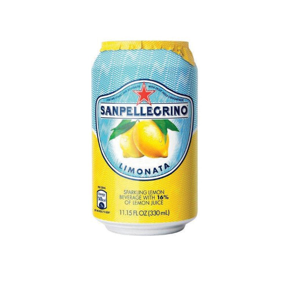 San Pellegrino Limonata Lemon 330ml Cans, Pack of 24 - 12166912