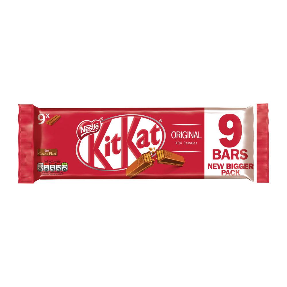 Nestle KitKat Two Finger Bars, Pack of 9 - 12339411