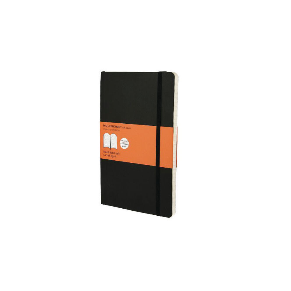 Moleskine Classic Large Black Hard Covered Ruled Notebook - QP060