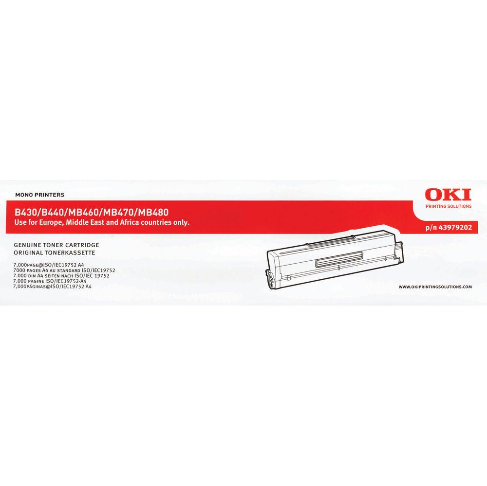 Oki Black Toner Cartridge - High Capacity 43979202
