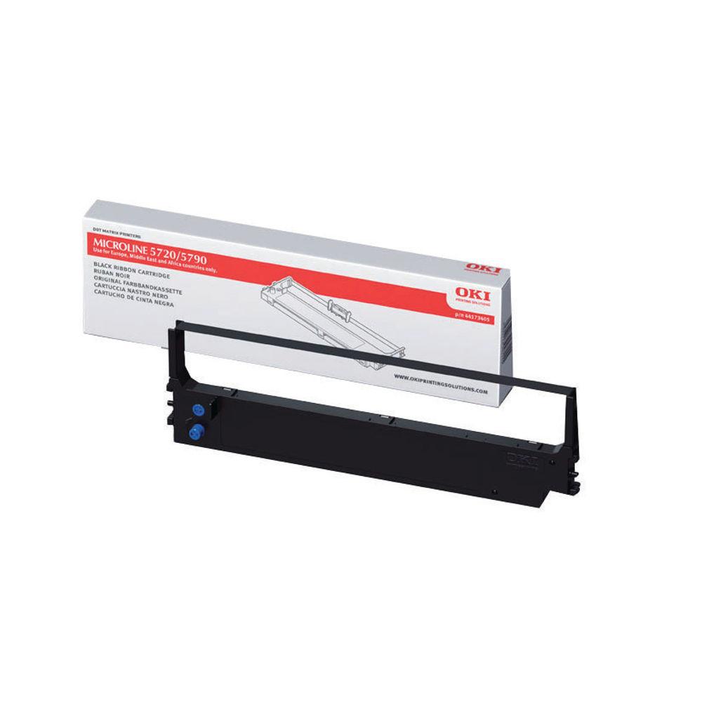 Oki Black Fabric Ribbon For Microline 5720/5790 44173405