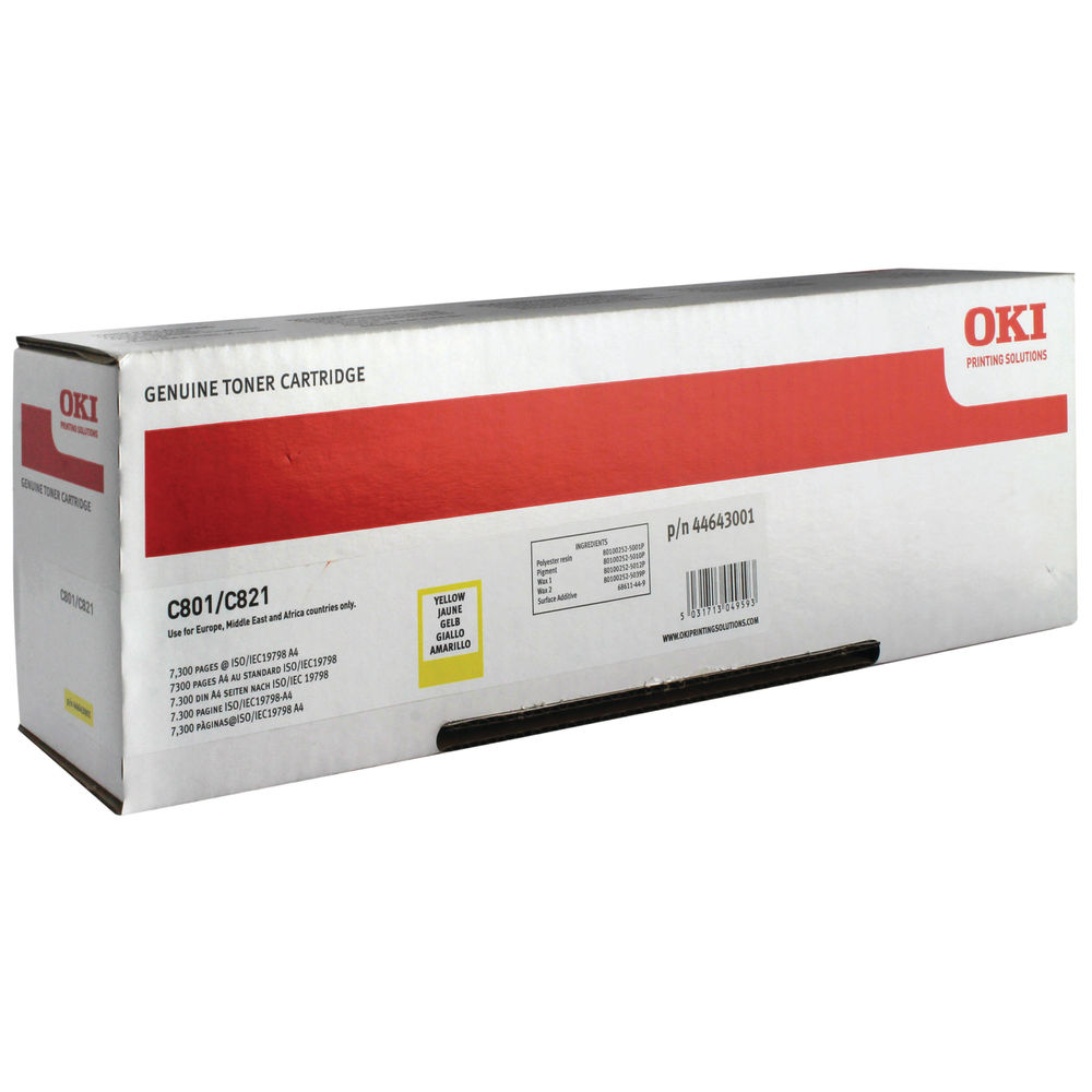 Oki Yellow Toner Cartridge - 44643001