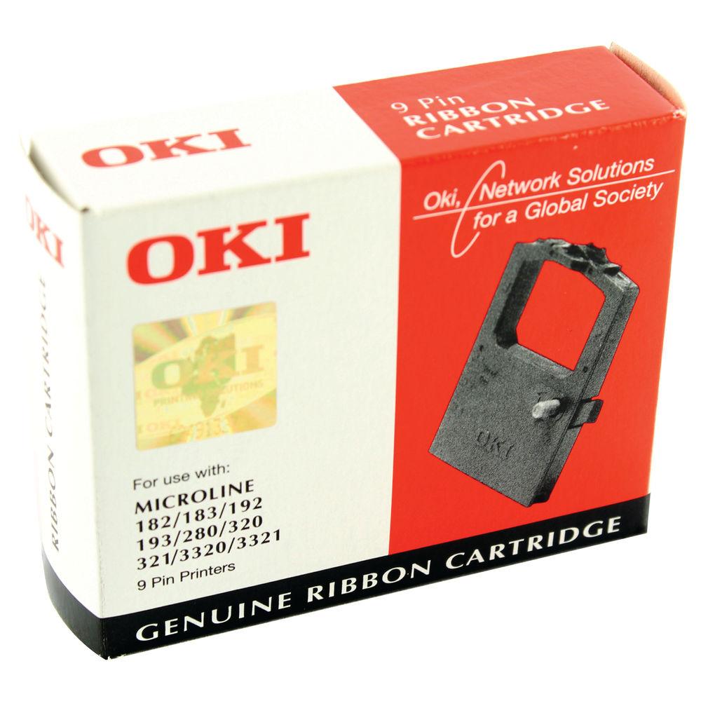 Oki Black Microline 182 Fabric Ribbon - 09002303