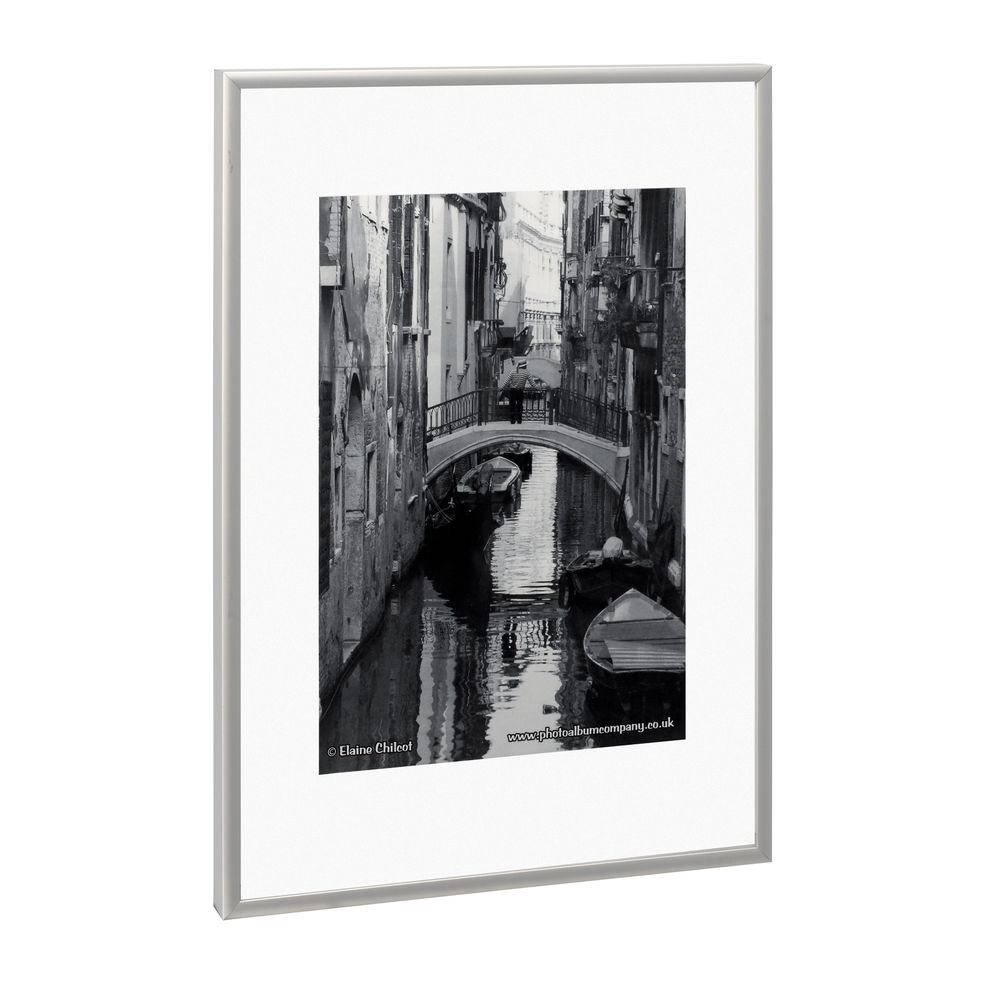 TPAC Photo Aluminium Certificate Frame A4 Silver PAAFA4B