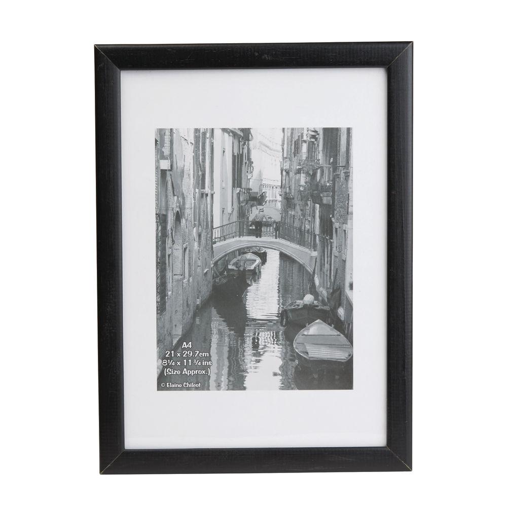 Photo Album Co Black Non-Glass Wood Certificate Frame - KENTA4NG