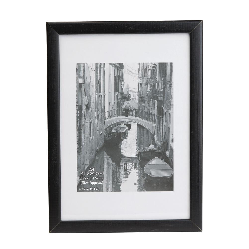 Photo Album Black Wood A4 Glass Certificate Frame - KENTA4GL