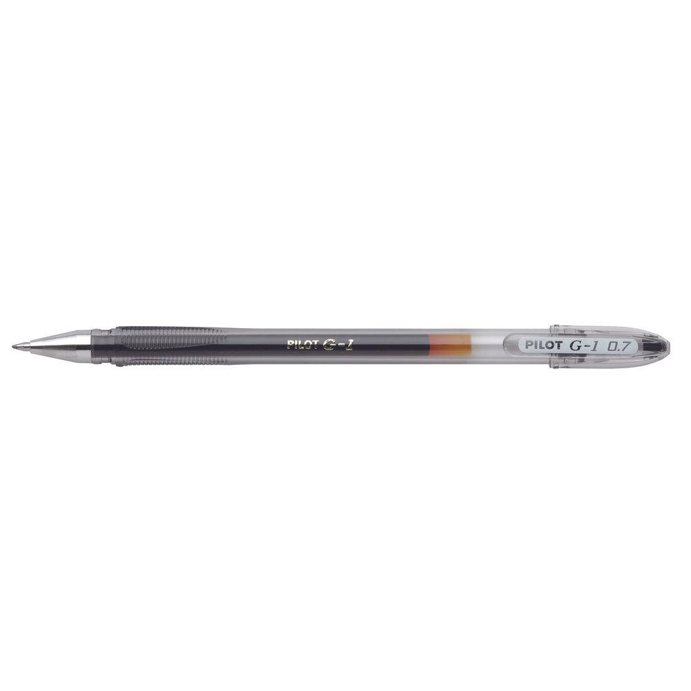Pilot G1 Black Rollerball Gel Pens, Pack of 12 - G10501