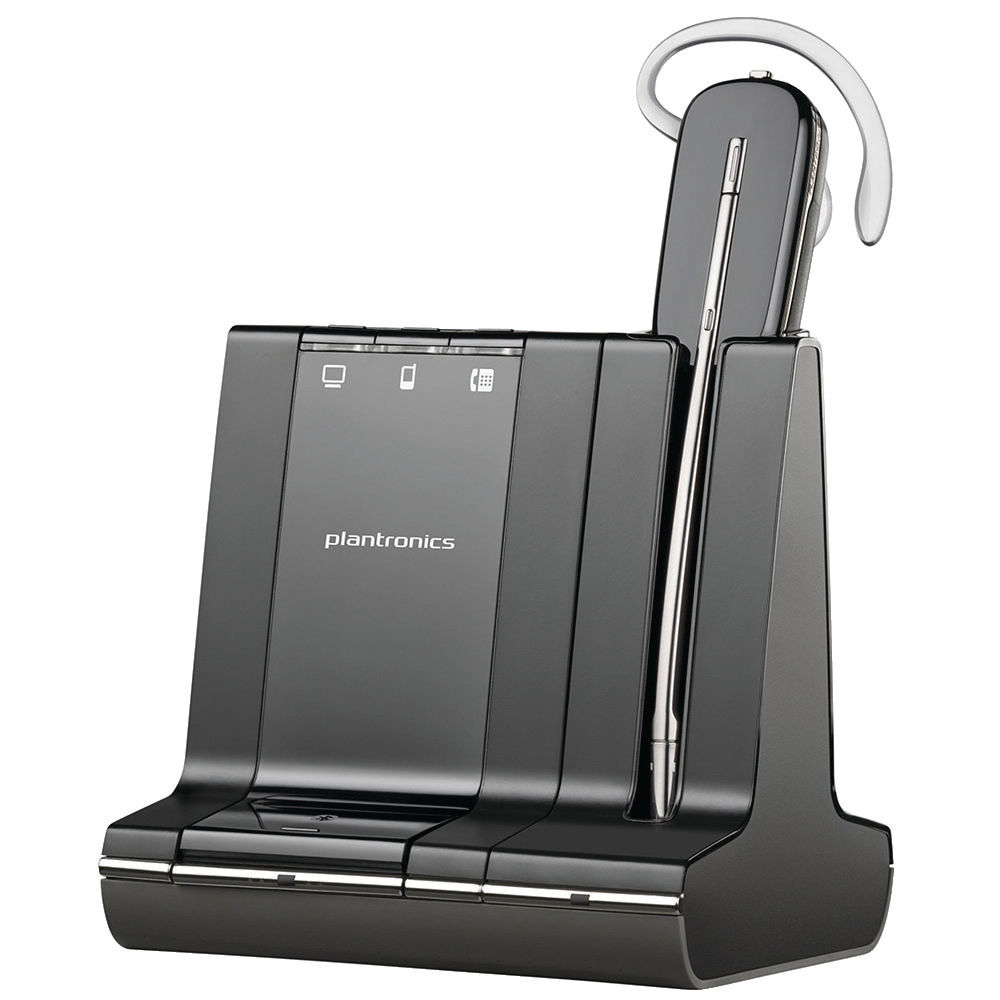 Plantronics Savi W740-M Wireless DECT Headset System Convertible Microsoft-Compatible 47676