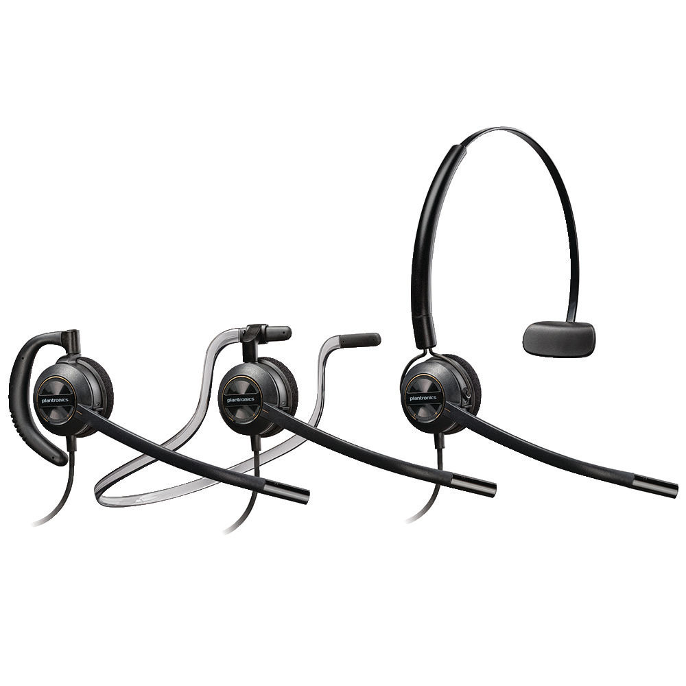 Plantronics Black EncorePro HW540 Customer Service Headset - 52639