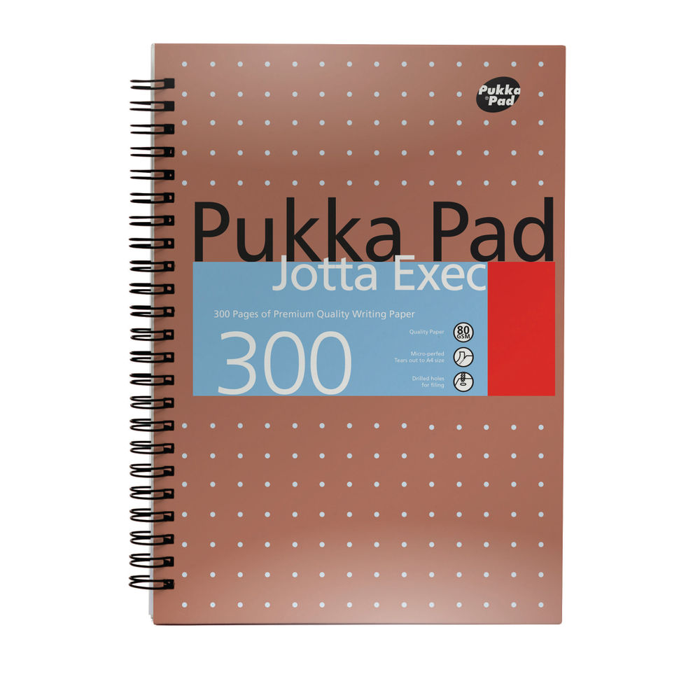 Pukka Pad A4 Jotta Executive Wirebound Notepad - Pack of 3 - 7019-MET