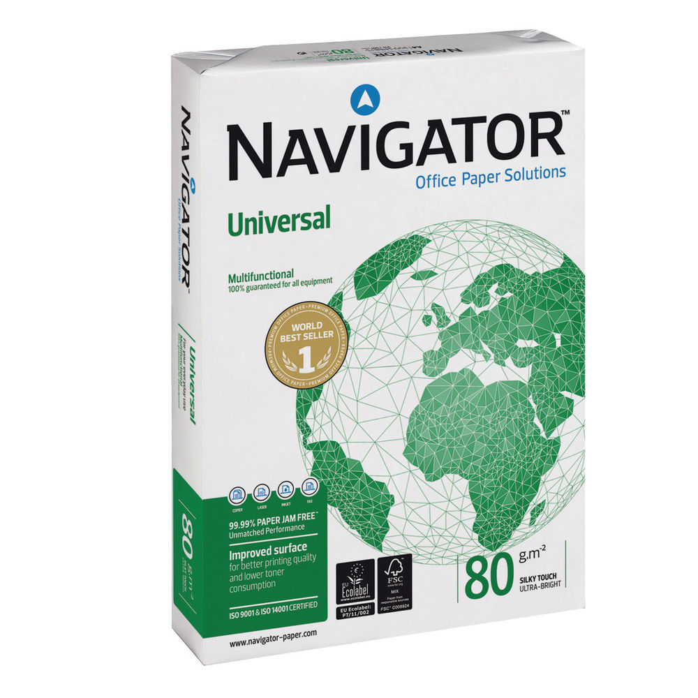 Navigator Universal White A4 Paper, 80gsm (2500 Sheets) 1 Box - NAVA480