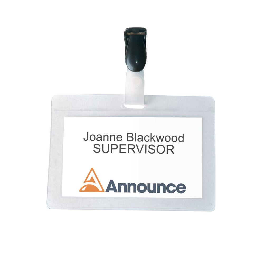 Announce Self-Laminating Badge 54x90mm (Pack of 25) PV00924