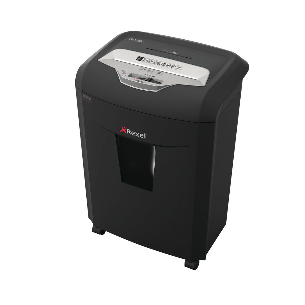 Rexel REM820 Micro Cut Shredder (Shreds up 8 sheets 80gsm into 1.9 x 15mm micro particles)