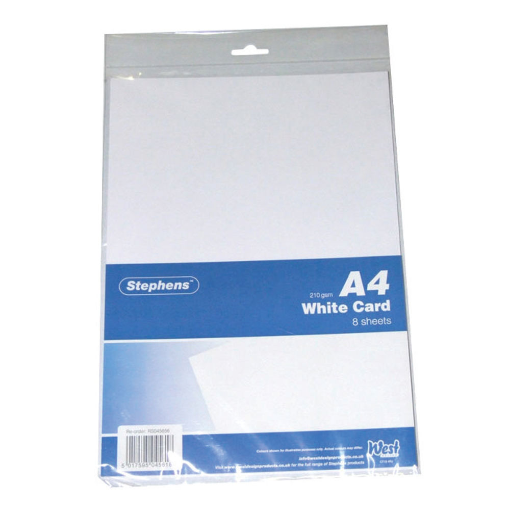 Stephens White A4 Craft Card (Pack of 80) – RS045656