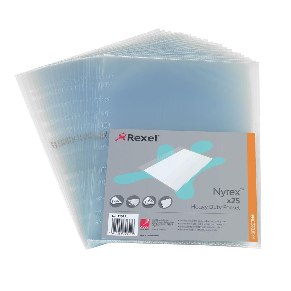 Rexel Nyrex Heavy Duty Side Opening Pocket A4(Pack of 25) NRBA41 11011