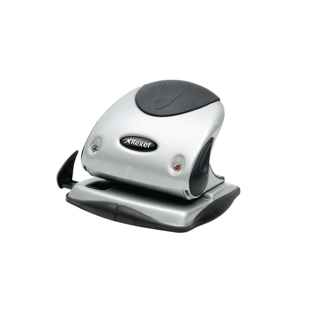 Rexel Precision P225 Silver/Black 2 Hole Punch - 2100743