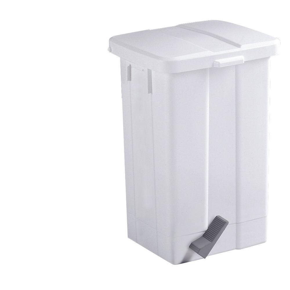 Pedal Bin 50 Litre White (W325 x D245 x H570mm, shock resistant plastic) 312252