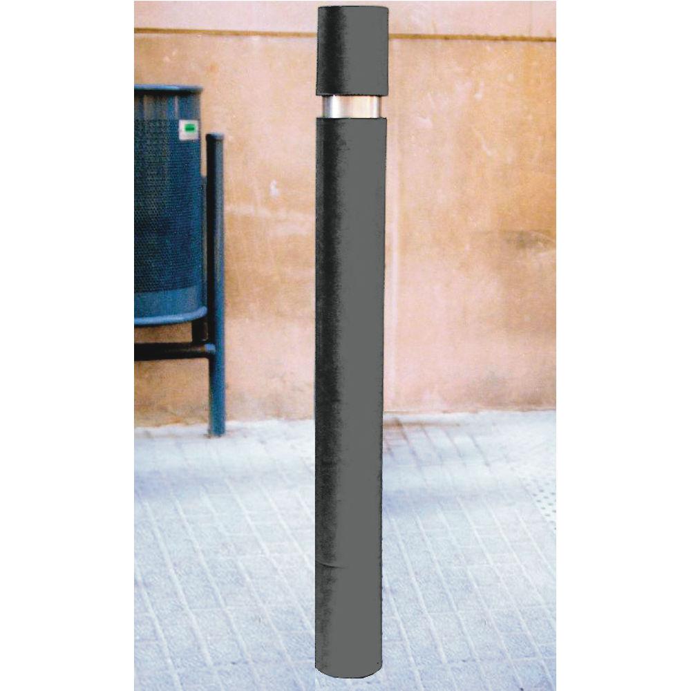 1000 x 95mm Black Slim Steel Bollard - 315551