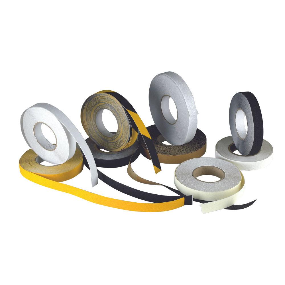 Anti-Slip Tape High Visibility 50mm X18.3m Self-Adhesive Yellow 317722