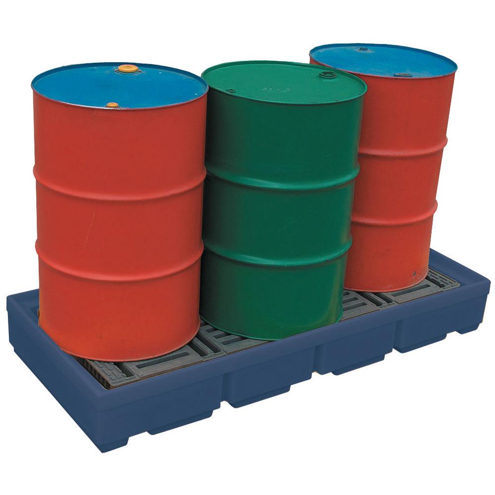 Blue 4 Drum Moulded Poly Sump Pallet  - 321623