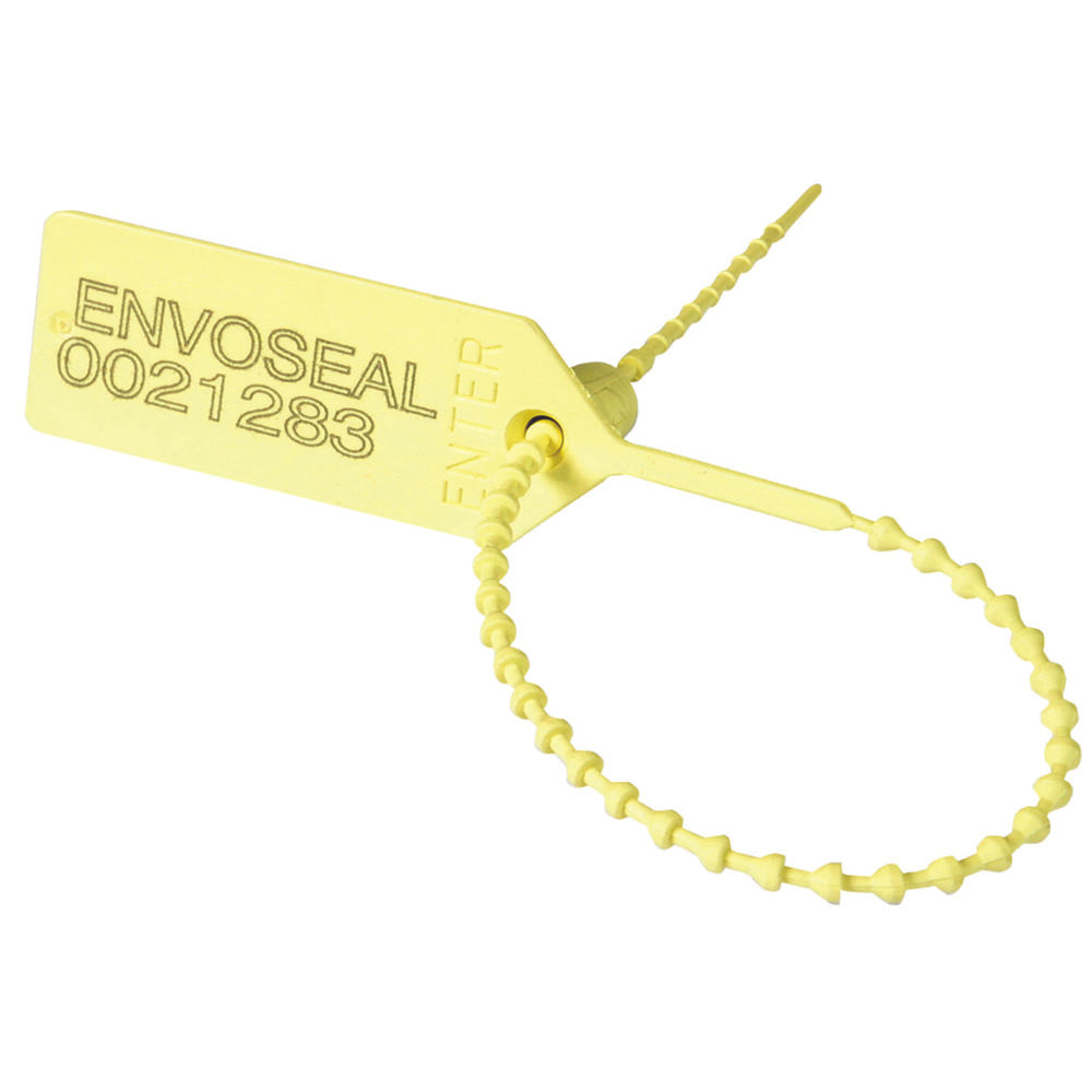 Security Seal Pull Tight 149mm Numbered Yellow (Pack of 1000) 323473