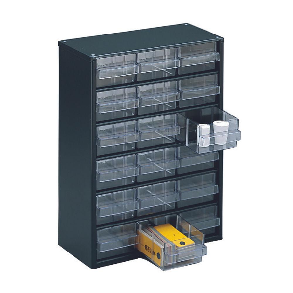Dark Grey 18 Drawer System Storage Cabinet - 324117
