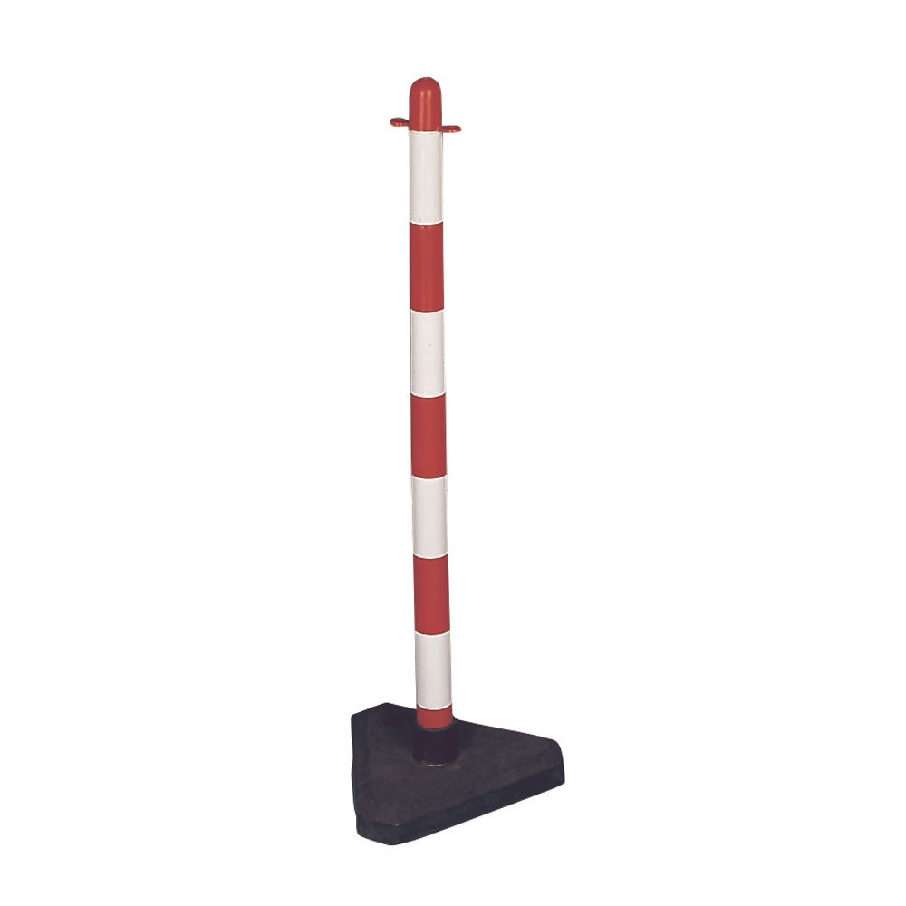 VFM Red/White Freestanding Post With Triangular Weighted Base 328267