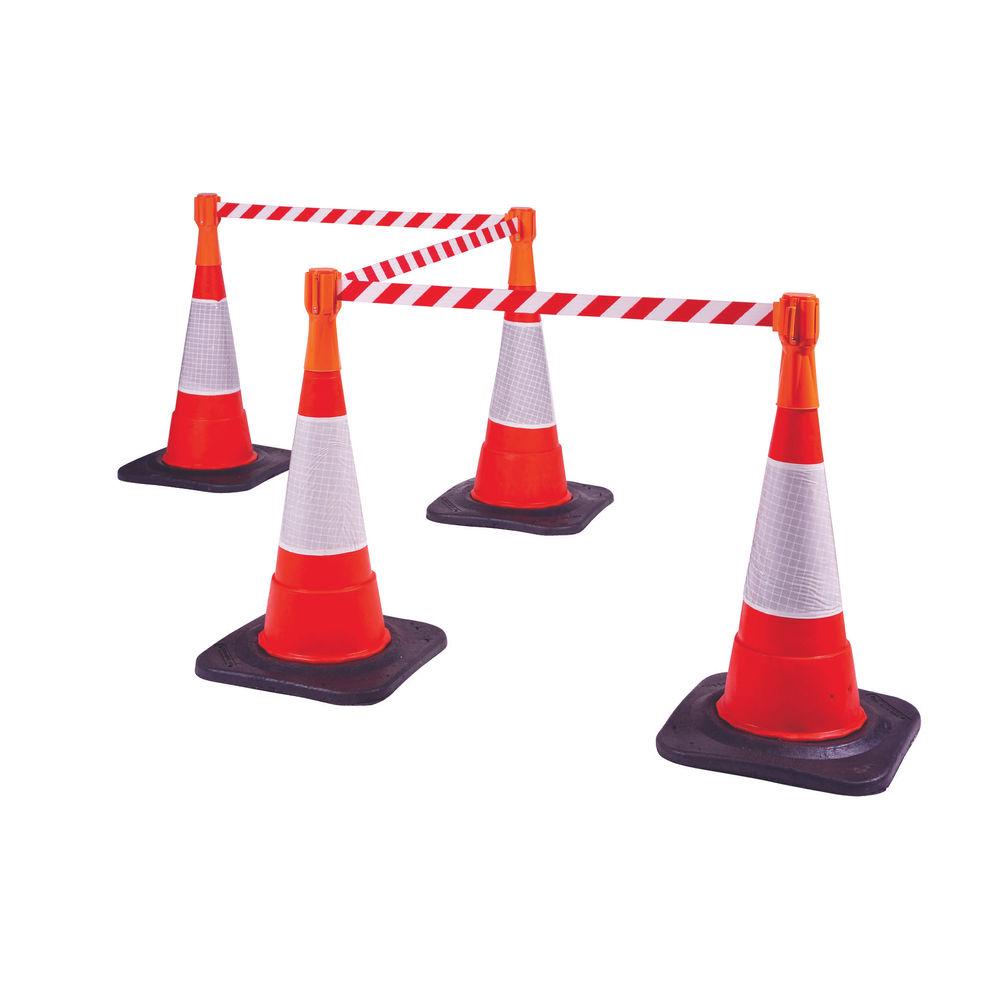 VFM Orange Retractable Web Belt For Traffic Cones 329334