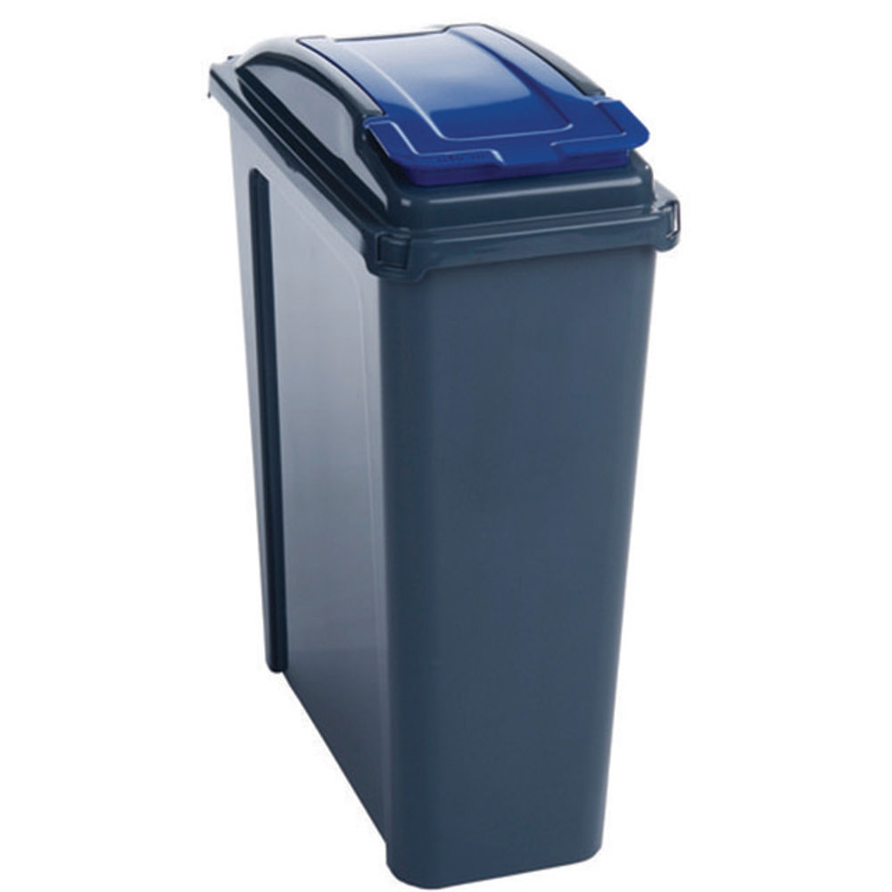 VFM Blue 25 Litre Recycling Bin With Lid - 384286