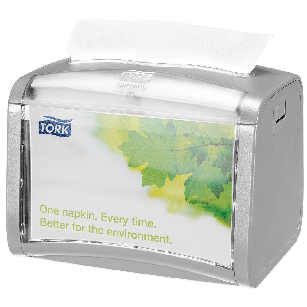 Tork Silver Xpressnap Tabletop Napkin Dispenser - 272613