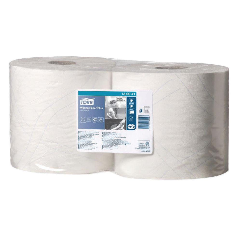 Tork 255m White 2-Ply Giant Centrefeed Rolls, Pack of 2 - 130041