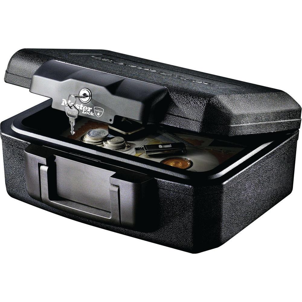 Master Lock Black 5 Litre Fire Resistant Chest - L1200