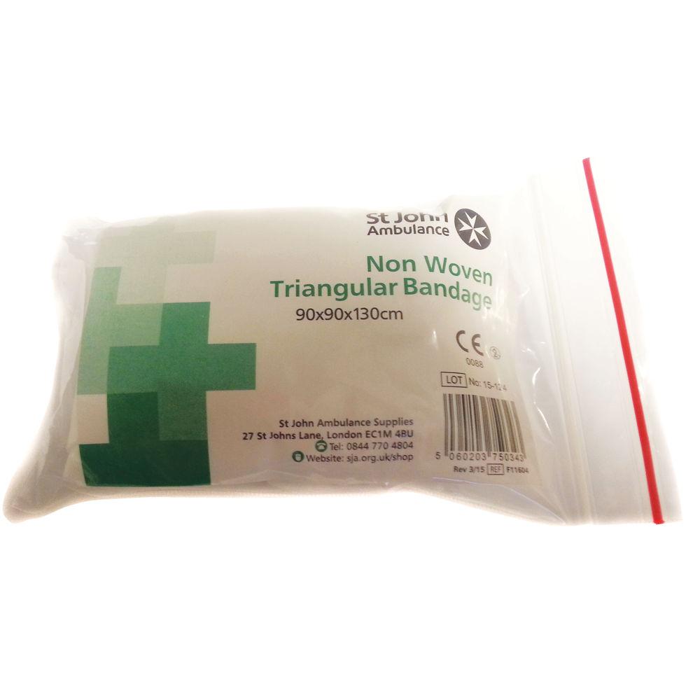 St John Ambulance Non Sterile Triangular Bandage F11604