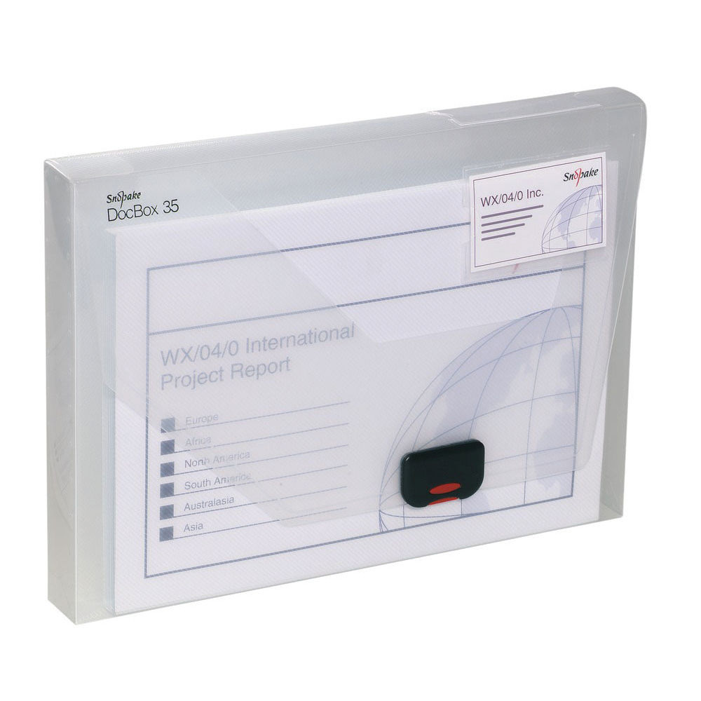 Snopake A4 Clear Polypropylene Document Box, 35mm - 12861