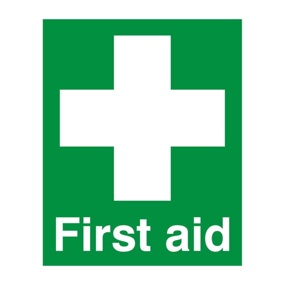 First Aid (100 x 250mm) Safety Sign - FA00607R